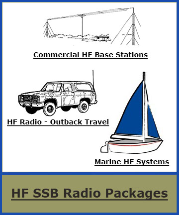 base 4WD Car Outback Marine HF Radio packages